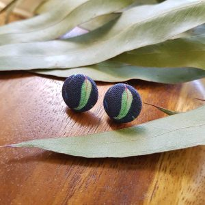 Mates With Grace Gumleaf Navy Stud Earrings