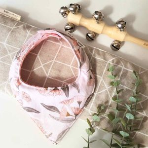 Mates With Grace Blush Eucalyptus Bandana Bib