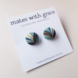 Mates With Grace Leaf Abstract Stud Earrings