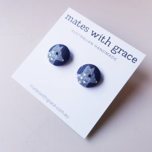 Mates With Grace Quolls Navy Stud Earrings