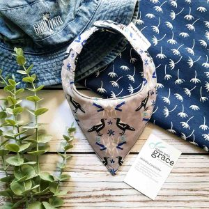 Mates With Grace Magpie Morning Bandana Bib