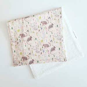Mates With Grace Marsupial Pink Burp Cloth