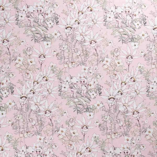May Gibbs Flannel Flowers Pink