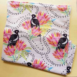 Mates With Grace Magpie Cutie Burpcloth