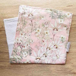 Mates With Grace May Gibbs Flannel Flowers Pink Burpcloth