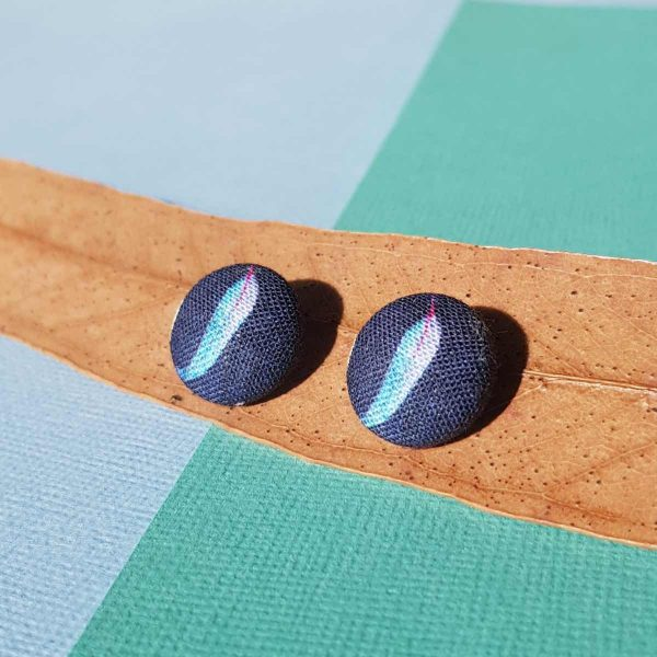 Mates With Grace Blue Gumleaf Earrings Navy