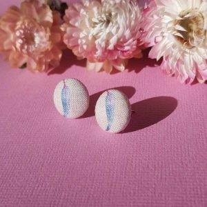 Mates With Grace Blue Gumleaf Earrings Pink