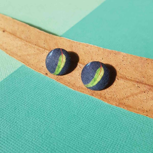 Mates With Grace Green Gumleaf Earrings Navy