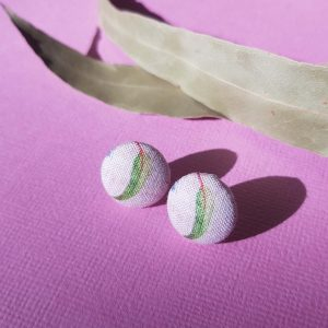 Mates With Grace Green Gumleaf Earrings Pink