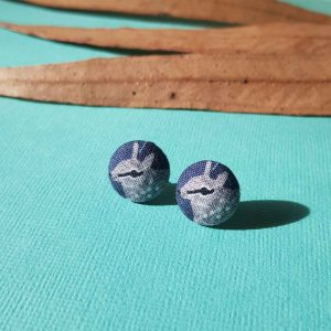 Mates With Grace Numbat Earrings Navy