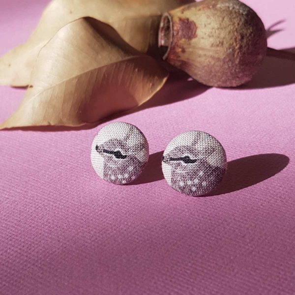 Mates With Grace Numbat Earrings Pink