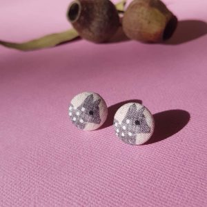 Mates With Grace Quoll Earrings Pink