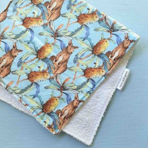 Mates With Grace Banksia Kangaroo Burp Cloth