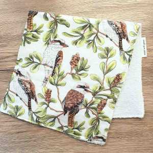 Mates With Grace Kookaburra Burp Cloth