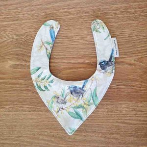 Mates With Grace Superb Fairy Wren Bandana Bib