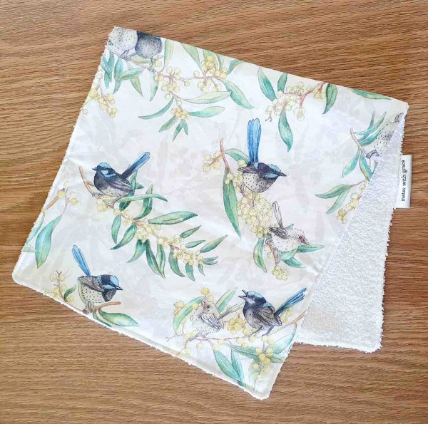 Mates With Grace Superb Fairy Wren Burp Cloth